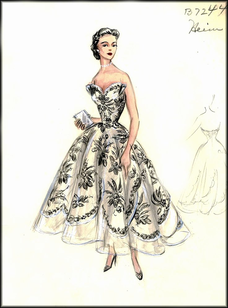 Dress Sketches for Fashion Designing Best Of 25 Best Images About Vintage Fashion Sketches On Pinterest