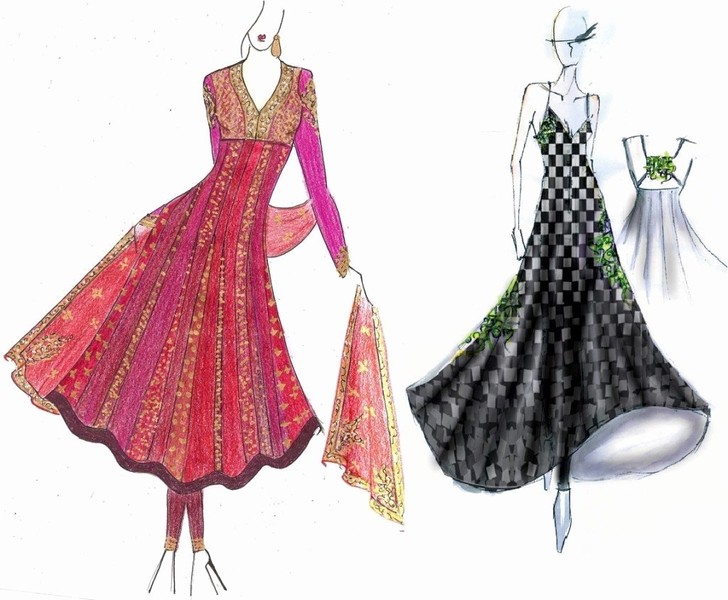 Dress Sketches for Fashion Designing Inspirational Manish Malhotra the Savior Of Bollywood Fashion