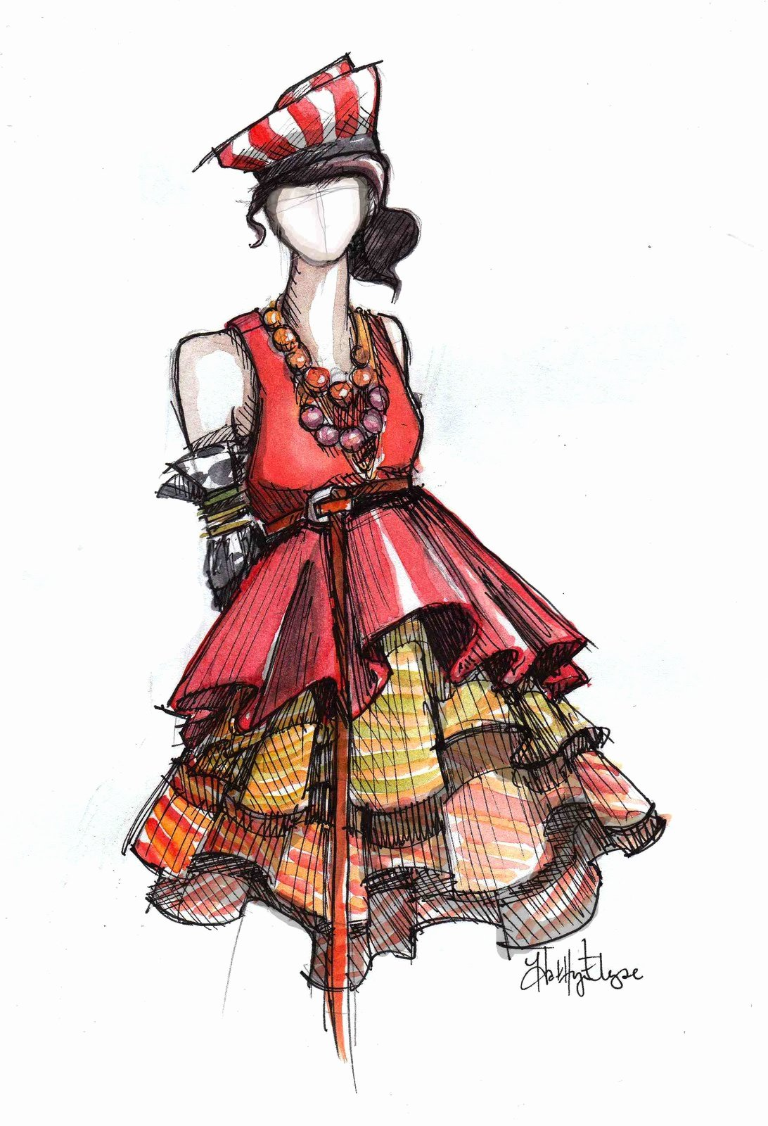 Dress Sketches for Fashion Designing Inspirational Night Owl News Fashion Illustration