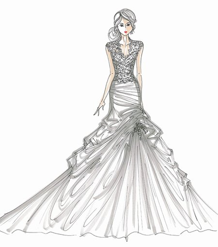 Dress Sketches for Fashion Designing New Bonjour World Of Fashion