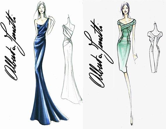 Dress Sketches for Fashion Designing New Chelsy Davy Royal Wedding Dress Sketches Alberta Ferretti Designs for Chelsy Davy