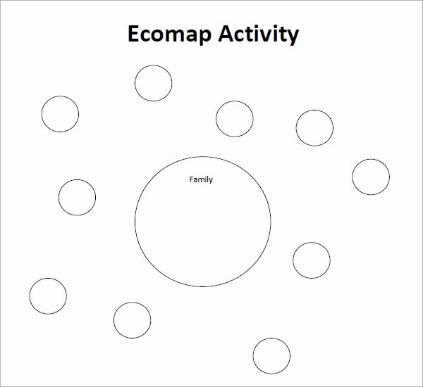 Ecomap Template for Word Fresh Example Blank E Ap Template social Work for Grad School