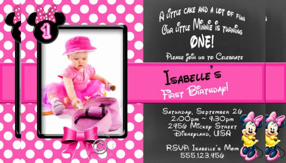 Editable Minnie Mouse Birthday Invitations Awesome 26 Minnie Mouse Invitation Templates Psd Ai Word Publisher