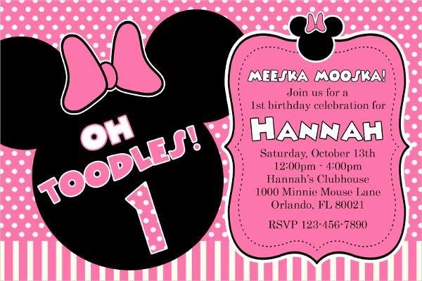 Editable Minnie Mouse Birthday Invitations Luxury 20 Minnie Mouse Birthday Invitation Templates Psd Ai Vector Eps