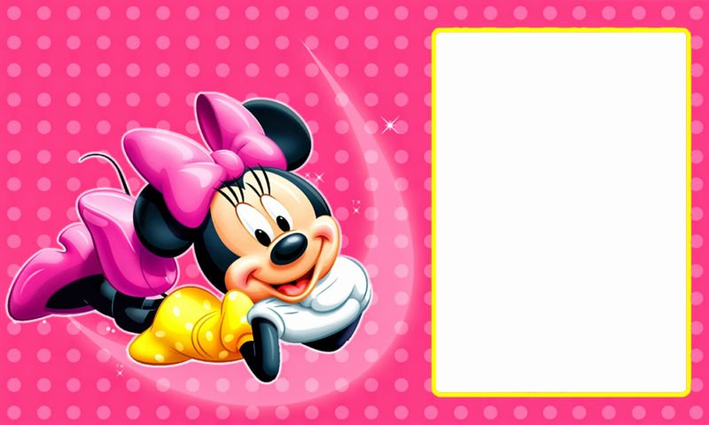 Editable Minnie Mouse Birthday Invitations Unique Free Printable Invitation Templates