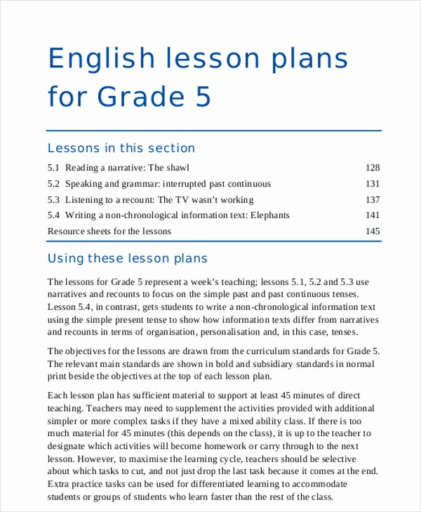 Ela Lesson Plan Template Best Of 47 Lesson Plan Samples