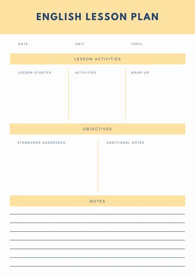 Ela Lesson Plan Template Best Of Customize 1 304 Lesson Plan Templates Online Canva