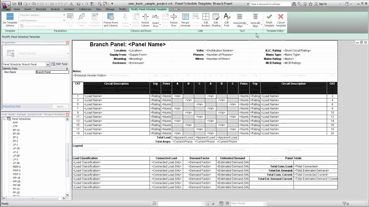 Electric Panel Schedule Template Best Of Autodesk Revit Mep Panel Schedule Templates