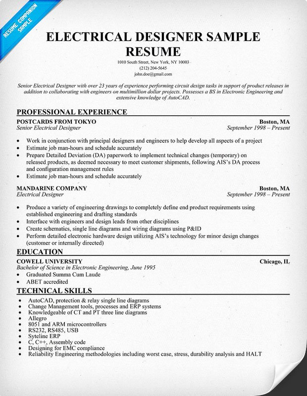Electrical Engineer Resume Sample Elegant Electrical Engineer Resume