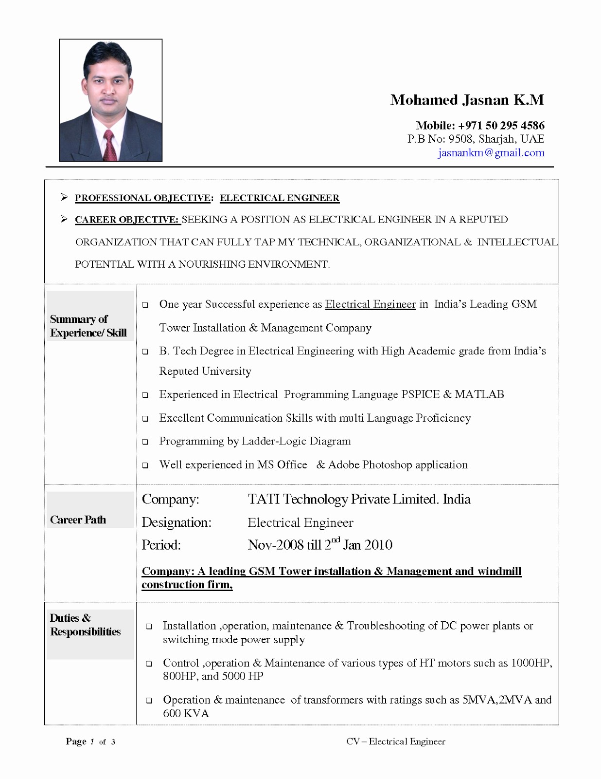 Electrical Engineer Resume Sample Elegant Resume Objective Examples Electrical Engineering Tipss