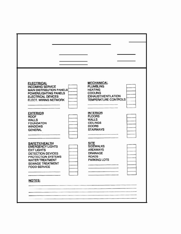 Electrical Inspection Report Template Lovely Building Inspection Checklist