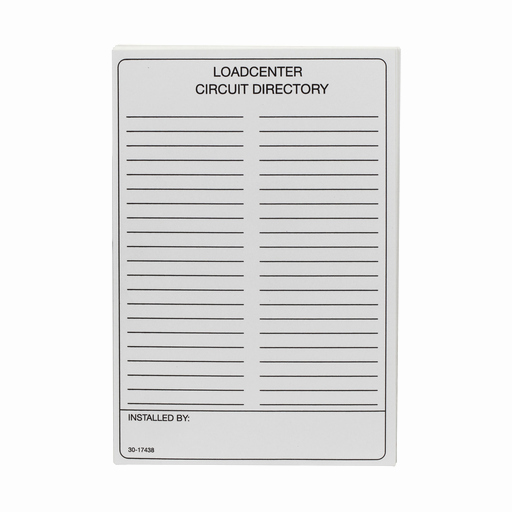 Electrical Panel Circuit Directory Template Inspirational C H Tcd