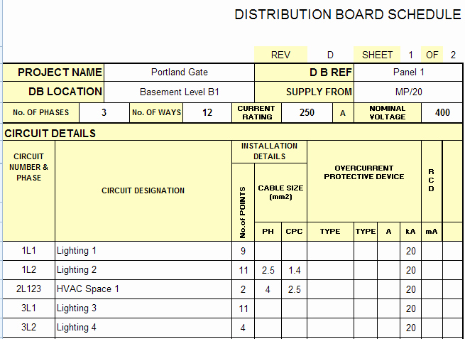 Electrical Panel Label Template Excel Luxury Distribution Board Schedule Template Excel – Printable Schedule Template