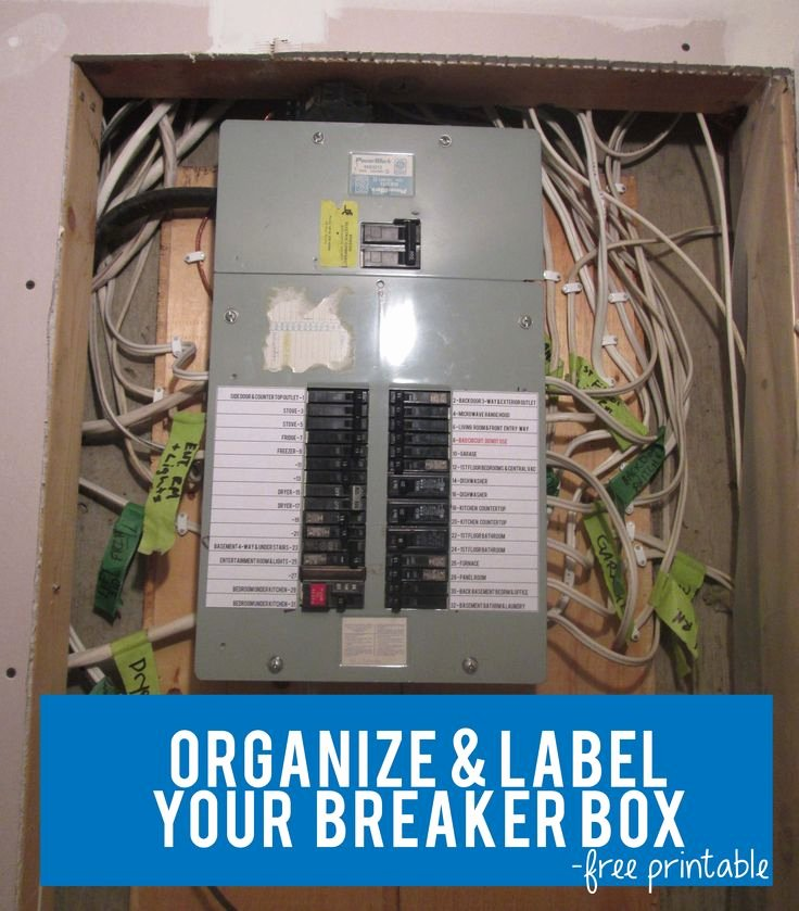Electrical Panel Labels Template Luxury organize & Label Your Circut Breaker Box with Free Circuit