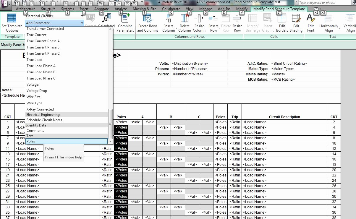 Electrical Panel Schedule Excel Elegant Revit Mep 2013 is It Possible to Undock Panel Schedules Autodesk Munity