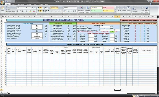 Electrical Panel Schedule Excel Template Best Of Calculate Electrical Load Of Panelboard Excel Spreadsheet