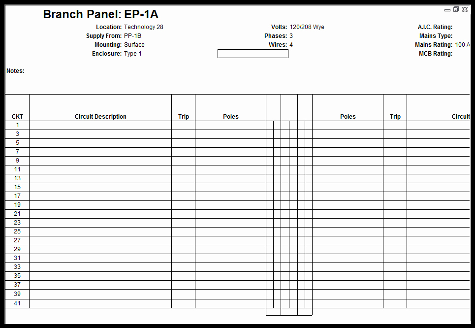 Electrical Panel Schedule Template Beautiful Customize Revit Electrical Panel Schedule Template Remove Phases