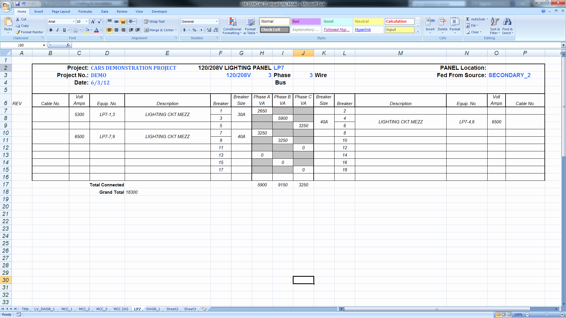Electrical Panel Schedule Template Excel Fresh Export Panel Schedules to Excel – Bimarabia