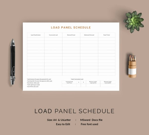 Electrical Panel Schedule Template Pdf Elegant 19 Panel Schedule Templates Doc Pdf
