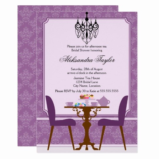 Elegant Tea Party Invitations Best Of Elegant Damask and Chandelier Tea Party Invitation