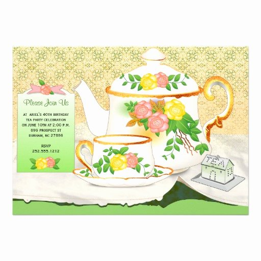 Elegant Tea Party Invitations Best Of Elegant Tea Party Invitation