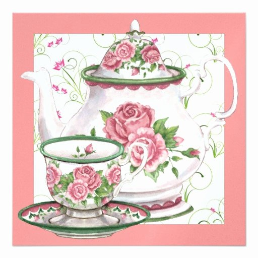 Elegant Tea Party Invitations Best Of Elegant Tea Party Srf 5 25x5 25 Square Paper Invitation Card