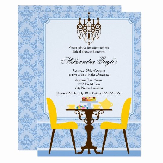Elegant Tea Party Invitations Elegant Elegant Damask and Chandelier Tea Party Invitation
