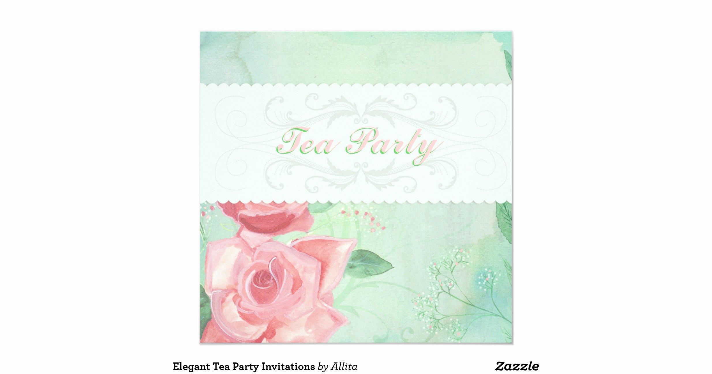 "Elegant Tea Party Invitations Lovely Elegant Tea Party Invitations 5 25"" Square Invitation Card"