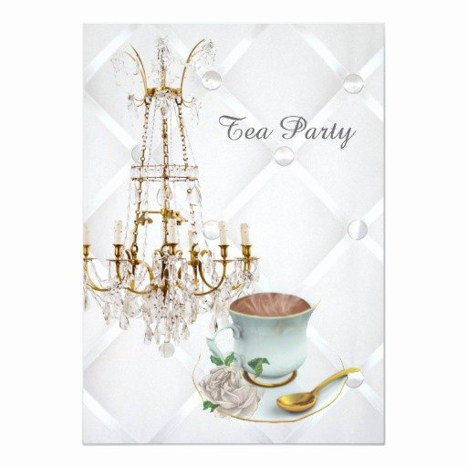 Elegant Tea Party Invitations Lovely Elegant Teacup Chandelier Vintage Tea Party Card