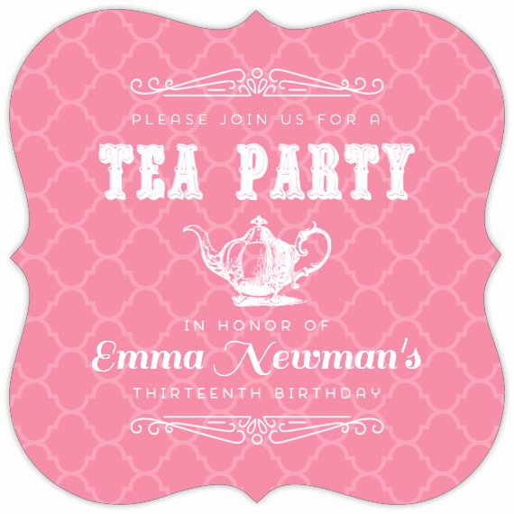 Elegant Tea Party Invitations Lovely Pink Elegant Tea Party Birthday Invitation