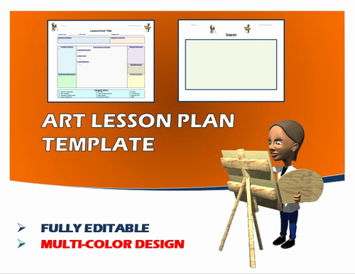 Elementary Art Lesson Plan Template Awesome Lesson Plan Template Art Editable by Ejpc2222