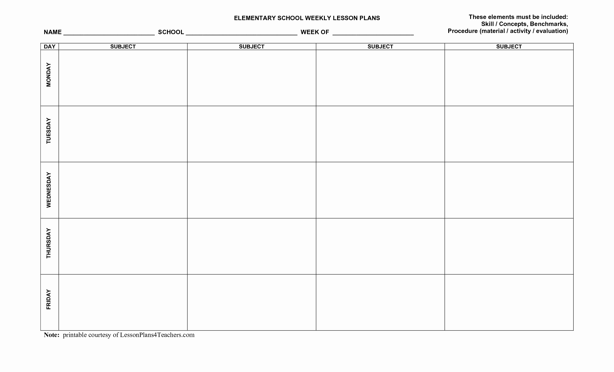 Elementary Art Lesson Plan Template Beautiful Use This Blank 8 Part Lesson Plan Template Every Time that