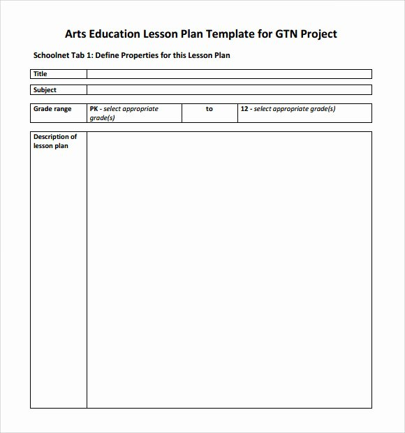 Elementary Art Lesson Plan Template Elegant Sample Art Lesson Plan 8 Documents In Pdf Word