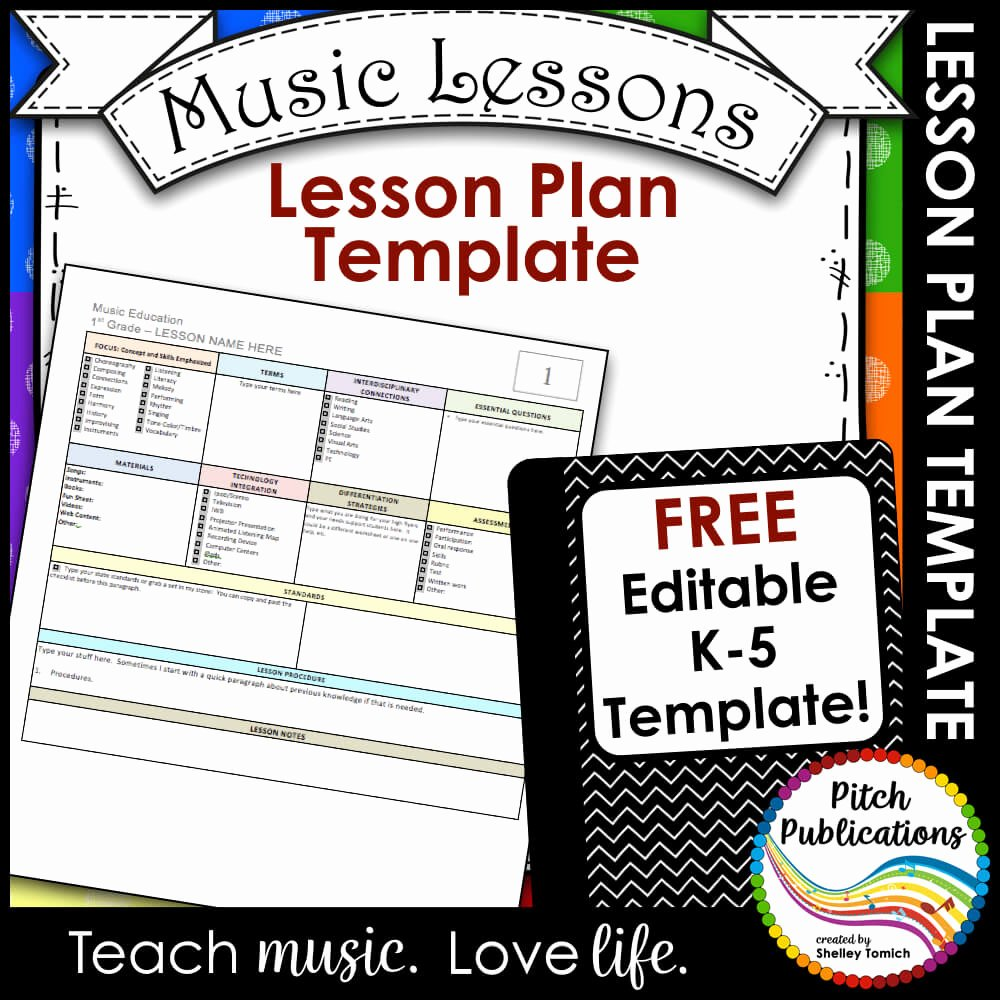 Elementary Music Lesson Plan Template Beautiful Elementary Music Lesson Plan Templates Free