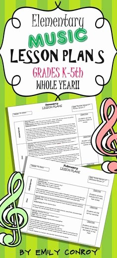 Elementary Music Lesson Plan Template Lovely Lesson Plan Templates Music Lesson Plans and Music