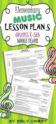 Elementary Music Lesson Plan Template Lovely Lesson Plan Templates Music Lesson Plans and Music