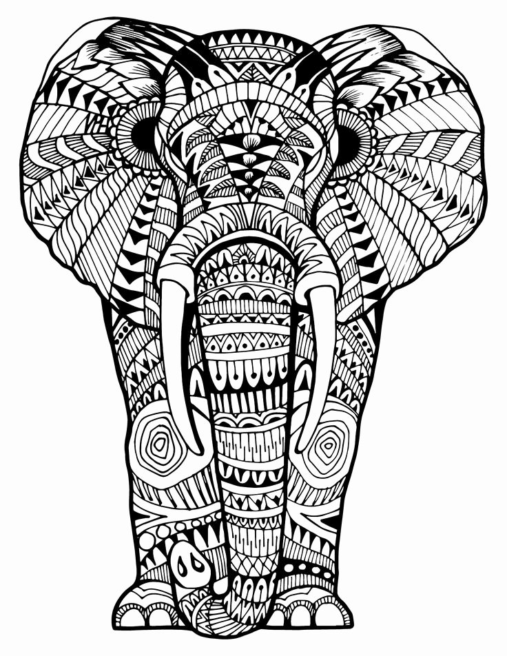 Elephant Mandala Coloring Pages Beautiful Mandala Elephant Coloring Pages at Getcolorings