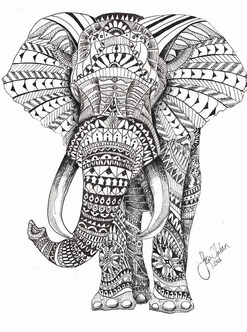 Elephant Mandala Coloring Pages Best Of Elephant Mandala Skin Art