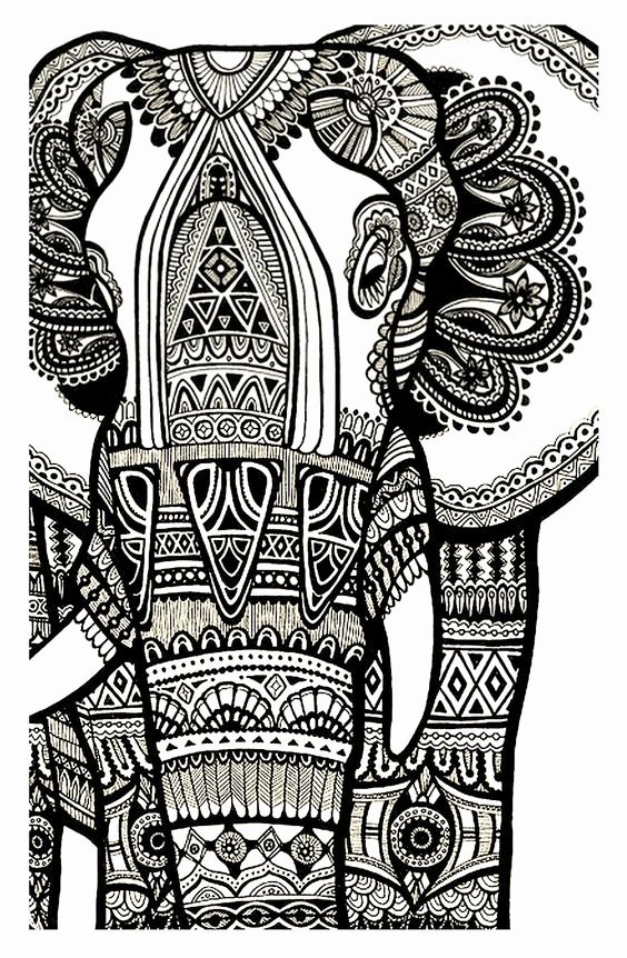 Elephant Mandala Coloring Pages Elegant Coloring Elephant Te Print for Free Mandala Coloring Page Coloringpages for Adults