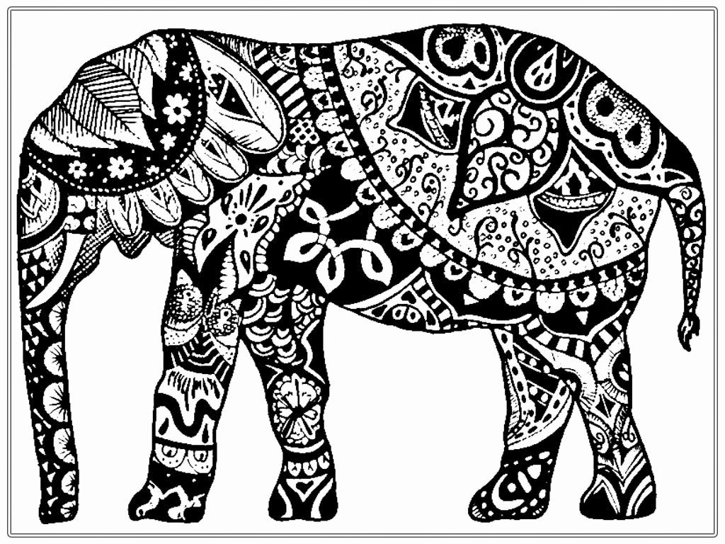 Elephant Mandala Coloring Pages Fresh Elephant Coloring Pages Coloringsuite