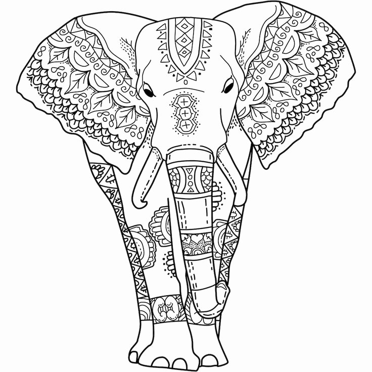 "Elephant Mandala Coloring Pages Fresh This is ""mystical Elephant"" A Coloring Page for You to Print Color and Share Mandala"