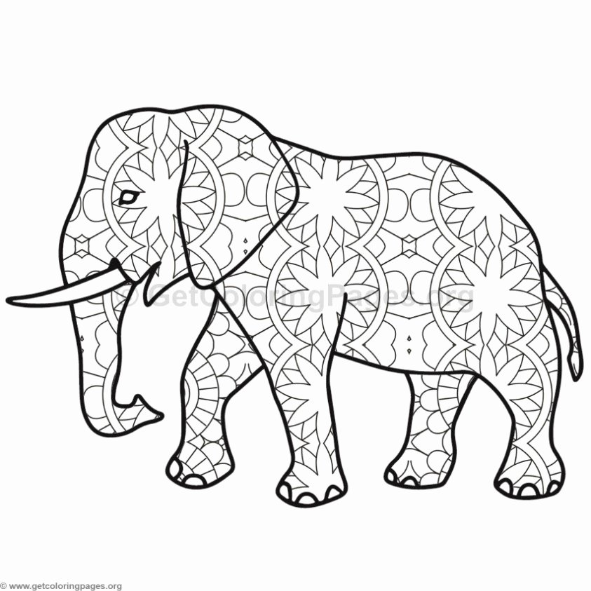 Elephant Mandala Coloring Pages Inspirational Elephant Coloring Pages 8 – Getcoloringpages