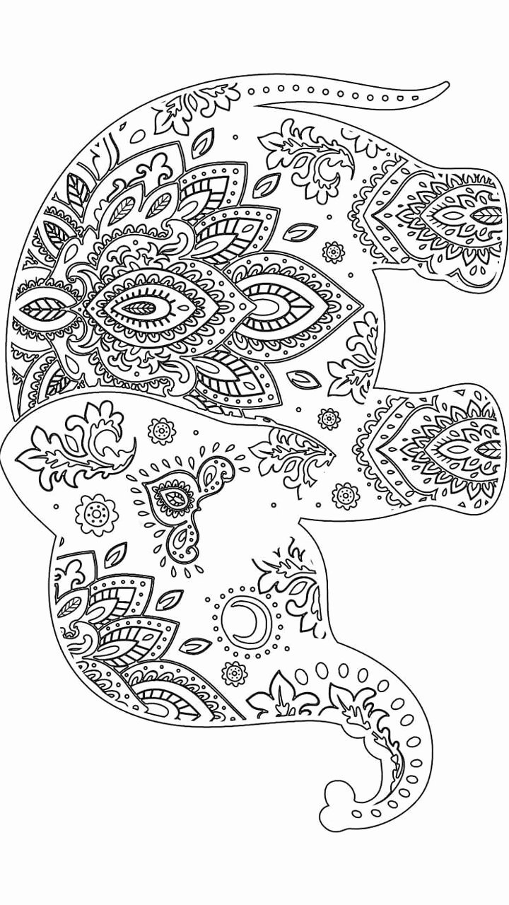 Elephant Mandala Coloring Pages Lovely 315 Best Images About Adult Colouring Elephants Zentangles On Pinterest