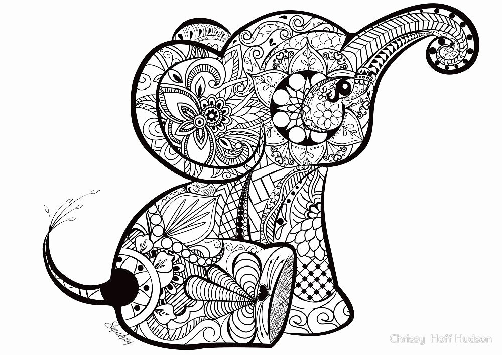 Elephant Mandala Coloring Pages Lovely A Better Pic Of the Baby Elephant Doodle My Work