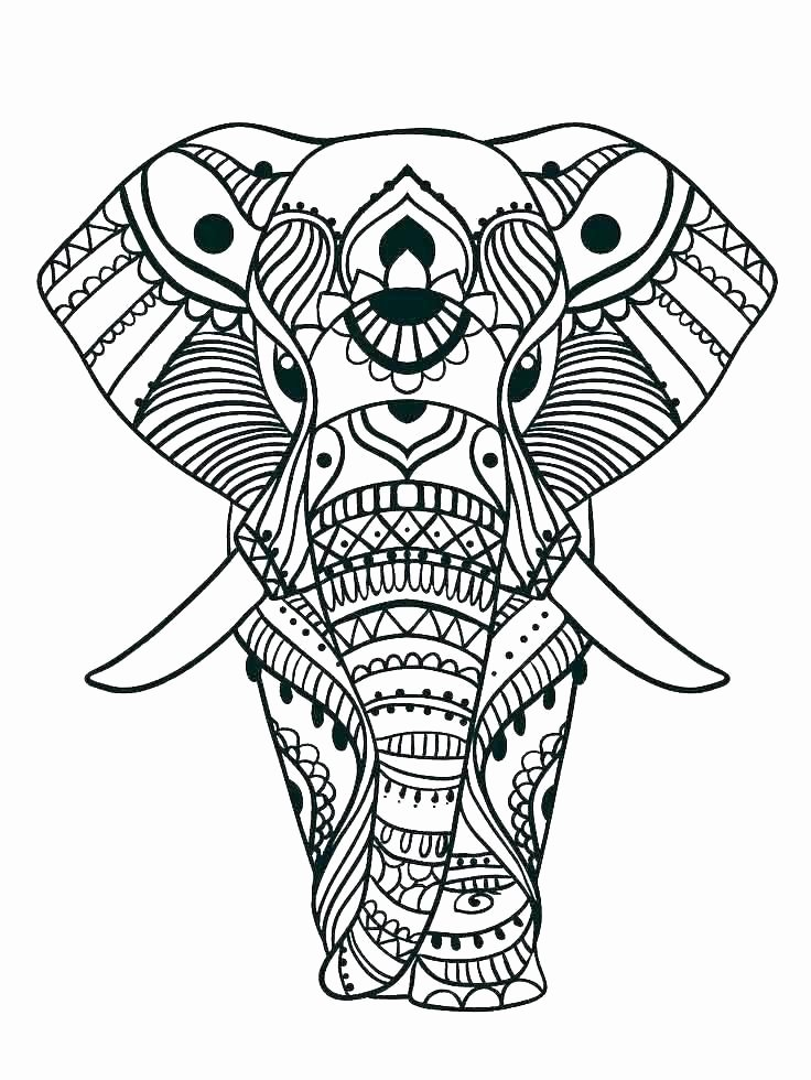 Elephant Mandala Coloring Pages Luxury Elephant Color Pages Print Elephant Coloring Page Coloring Baby Elephant Coloring Pages Print