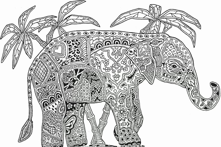 Elephant Mandala Coloring Pages New 14 Best Images About Kleurplaten Voor Volwassenen On Pinterest
