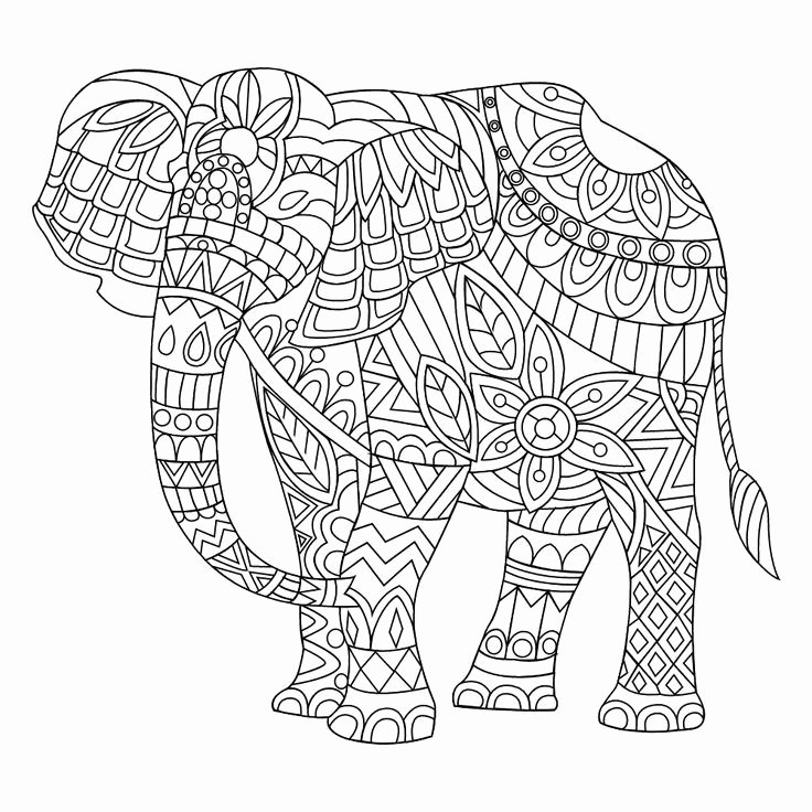 Elephant Mandala Coloring Pages New Elephant Mandala Coloring Pages Part 5