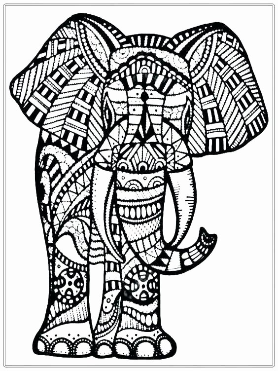 Elephant Mandala Coloring Pages Unique Mandala Elephant Coloring Pages at Getcolorings