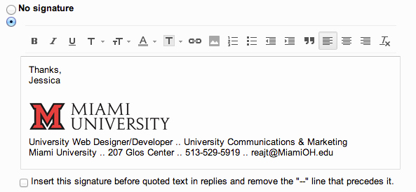 Email Signature Examples Student Elegant Add the Miami Logo to Your Email Signature Miami University