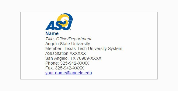 Email Signature for College Student Lovely 5 College Student Email Signatures Free Download